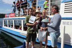 200 tisící návštěvník lodní dopravy na Dalešické přehradě