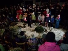 Vánoční výzdoba ve Vlčatíně