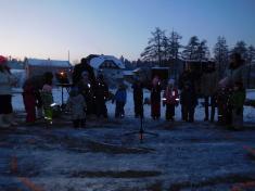 Rozsvícení vánočního stromu v Oslavičce