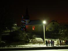 Rozsvícení vánočního stromu v obci Rohy