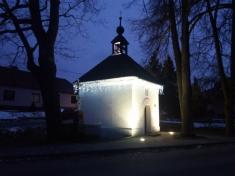 Rozsvícení vánočního stromu v obci Hodov