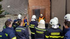 Kramolín - školení zdravovědy pro místní jednotku hasičů